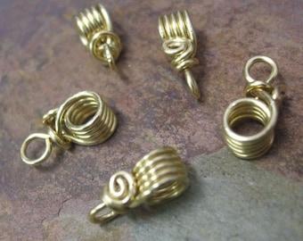 Handmade Brass Pendant Bails II, 18g, PurpleLily Designs, SRA