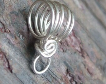 Handmade Sterling Silver Bail VI, PurpleLily Designs, SRA Suitable for Viking Knit