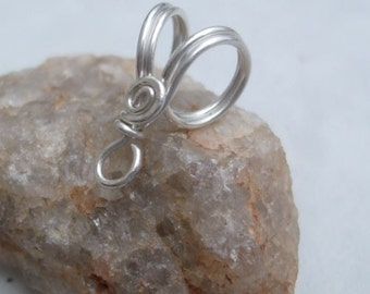 Handmade Sterling Silver Bail V, PurpleLily Designs, SRA Suitable for Viking Knit