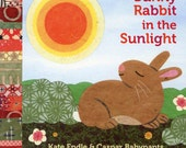 Bunny Rabbit in the Sunlight, childrens book, board book for children, Easter childrens book, Easter basket, baby shower gift, baby nursery
