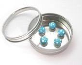 Tiny Toadstool Magnets in Ice Blue