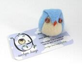 Little Hootie Owl in Ice Blue