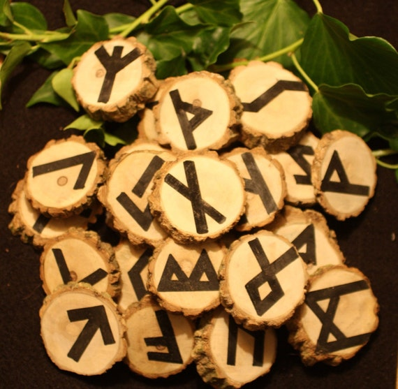 25 Beautiful, Large Elder Wood Runes - reserved for Joanna