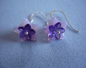 Lavender  Bell Flower Earrings    (OOAK)