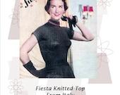 1956 Evening Sweater in Lurex Yarn Vintage Knitting Pattern pdf Instant Download