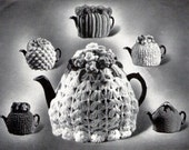6 Vintage Tea Cosy Patterns Knitting and Crochet 1947 PDF Instant Download