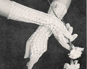 Crochet Gloves Princess 1940s Pdf Vintage Crochet Pattern Digital Delivery