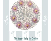 1950s  ASTER Doily table mat Vintage Crochet Pattern pdf  INSTANT DOWNLOAD from Pamoolah Vintage