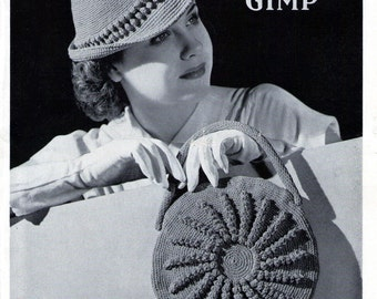 1930's Hats Bags Novelties 14 Vintage Patterns e-Book Vintage Crochet Patterns PDF