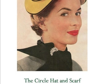 Hat Pattern Lilly Dache 1953 Sewing Pattern PDF  with Extra Millinery Info