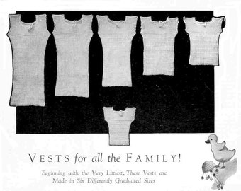 Children Need Vests 6 Sizes Vintage Knitting Pattern 1930s PDF INSTANT DOWNLOAD