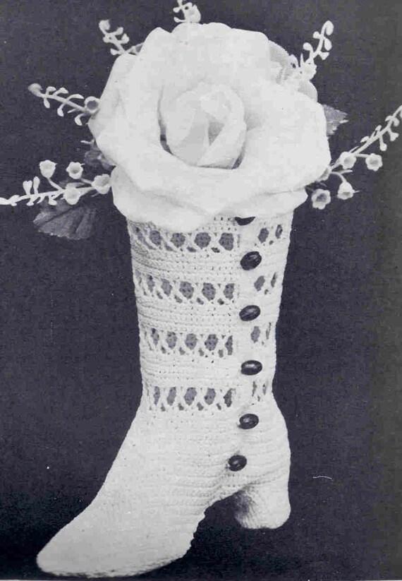 Wedding Boot Vintage Crochet Pattern Cake Topper Gift ...