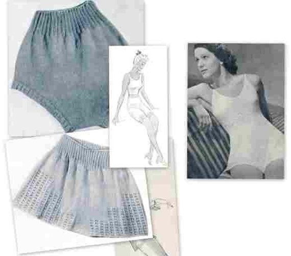 Lingerie  ladies Knickers Camiknickers Vintage Knitting Patterns PDF Instant Download