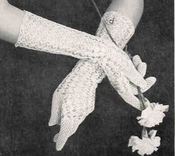 Crochet Gloves Princess 1940s Pdf Vintage Crochet Pattern