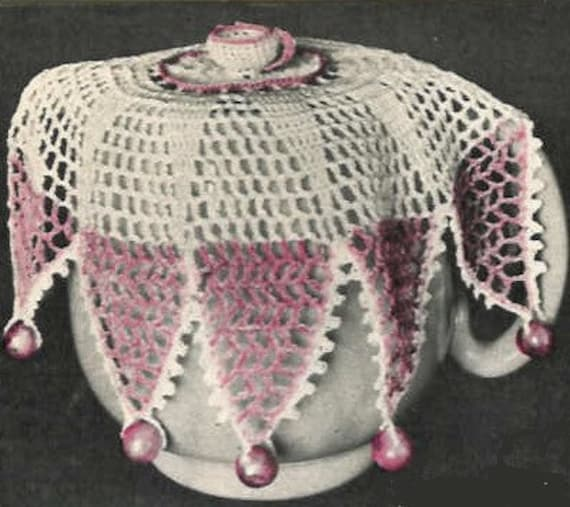 Free Crochet Patterns For Jug Covers : Items similar to Vintage Crochet Pattern PDF Milk Jug ...
