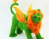 Winged Lion - needle felt Fantasy Creature