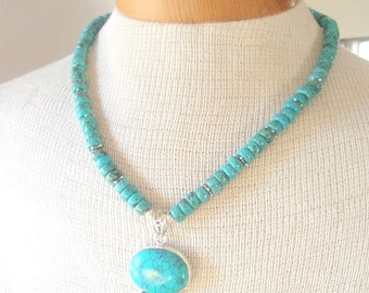 Turquoise Mermaid Necklace - 925 Silver
