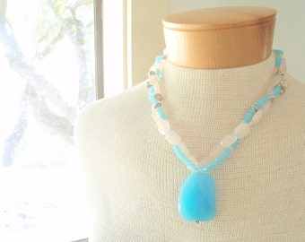 Ocean Goddess - pure gemstones and sterling silver