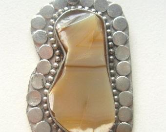 Desert Agate Antique India Amulet Necklace