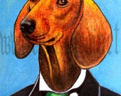 Print 5x7 - Wiener - Smart Dog
