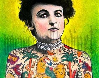 """Print 8x10""""  - The Tattooed Lady"""