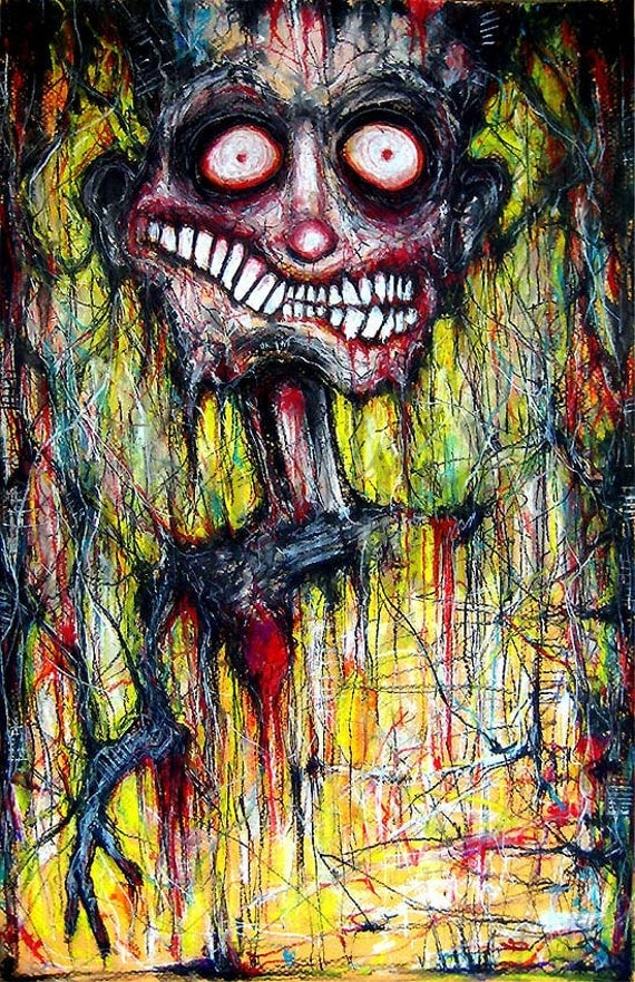"Print 11x17"" - Don't look inside....I'm far too empty - Dark Art Horror"