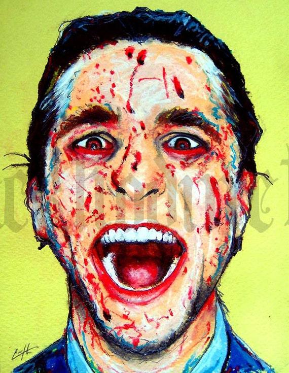 "Print 8x10"" - Patrick Bateman - American Psycho Serial Killer 80s Halloween Gothic Blood New York Wall Street Death Horror Christian Bale"