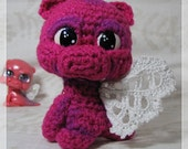 Amigurumi Dragon Chibi Crochet Plush Pink and Purple