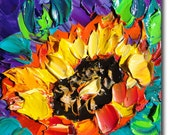 Flower Painting Original Oil Painting  Palette Knife Painting ART B. Sasik  Painting