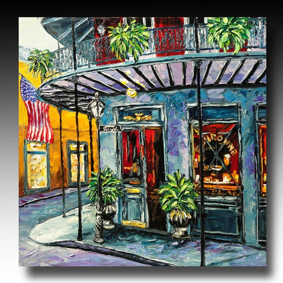 New Orleans Painting New Orleans ART French Quarter Painting B. Sasik