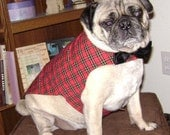 Christmas Medium Pug Vest (16-21 pounds)