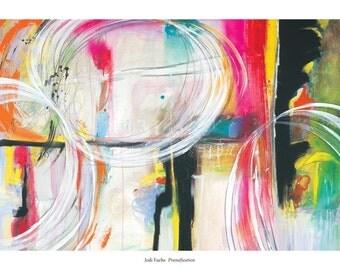 pranafication (poster)  contemporary abstract art wall decor