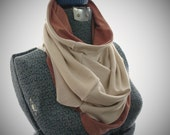 Reversible Tube Scarf-Coral and Frost-Ready to Ship
