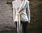 White Wisp-Bolied Wool Wrap