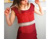 Raspberry Paneled Slip Dress