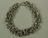 Chain Maille Bracelet in Nickle Silver