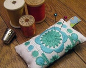 Embroidered Eco-Friendly Linen Pincushion
