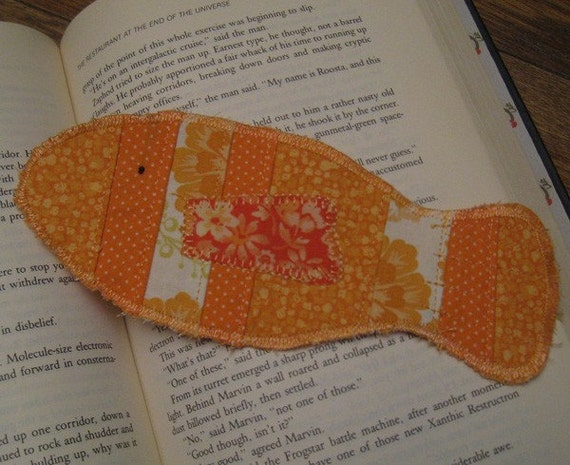 Patchwork Fish Fabric Bookmark - On Sale, 25% Off