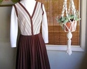 Sweet and Sassy Brown and White Day Dress