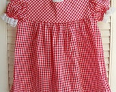 Red and White Gingham Baby Dress