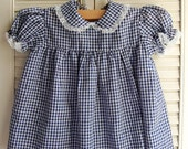 Navy and White Gingham Baby Dress