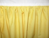 Handmade Solid Color Crib Skirt / Dust Ruffle - Bright Yellow or your choice of color