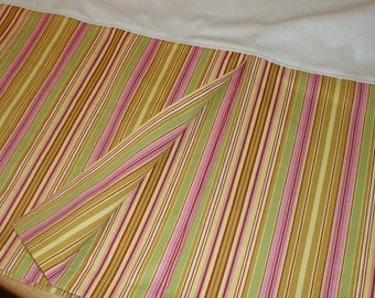 Pleated Crib Skirt - Custom made with your Fabric - custom sewing