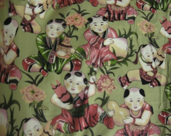 China Doll Crib Skirt  - Pleated or Straight