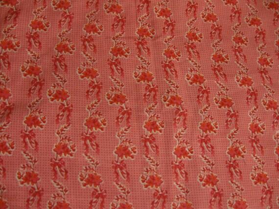 Pink Flowers Crib Skirt - Ruffled