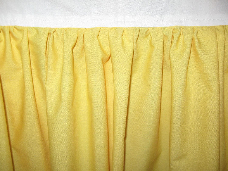 Handmade Solid Color Crib Skirt Dust Ruffle Bright Yellow