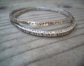 Custom Message 4-Sided Cuff Bangle by donnaodesigns