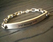 Hand Stamped ID Bracelet by donnaodesigns