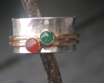 Spinning Gemstone Mother's Ring by donnaodesigns