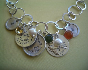 Hand Stamped Life Story Necklace II by donnaodesigns
